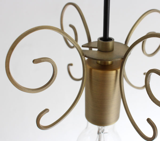 Firenze pendant lamp antique gold