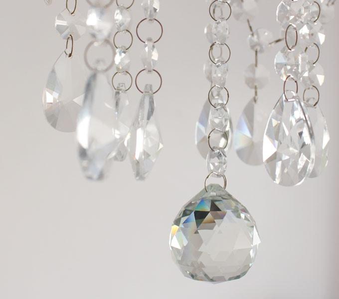 Maestro-clear chandelier ガラスビーズ
