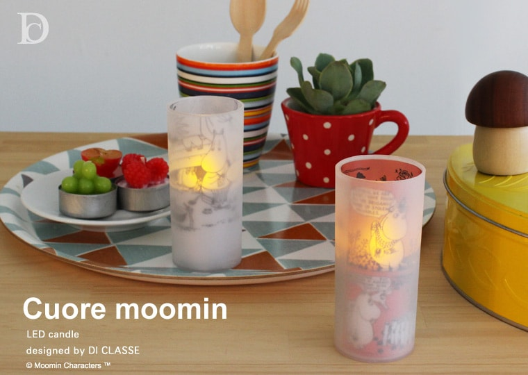 Cuore moomin LED candle