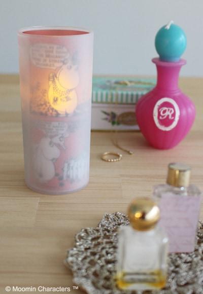 クオーレ ムーミン LED candle ピンク