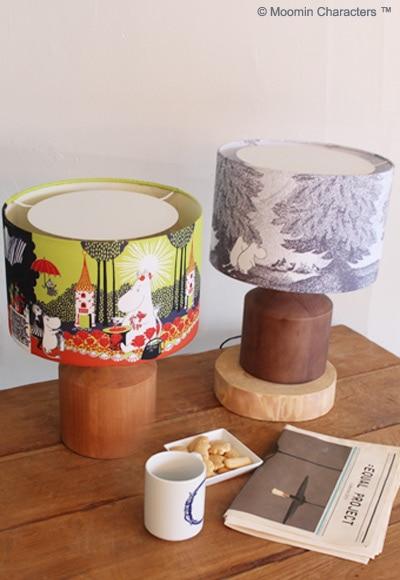 ムーミン谷の切り株 テーブルランプ