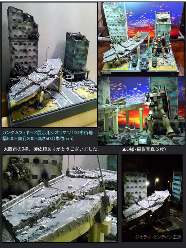 ガンダムフィギュア観賞用ジオラマ模型