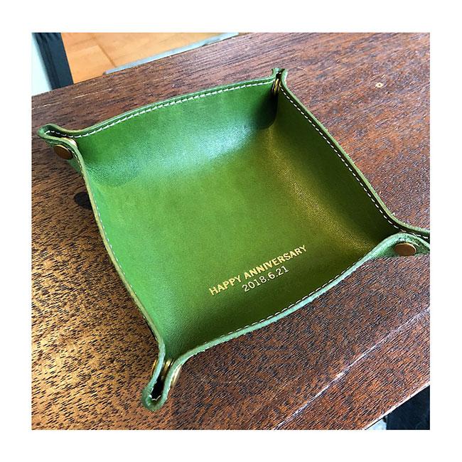 革婚式・レザートレー・革小物・プチギフト・名入れギフト・名前入りプレゼント・参考写真003
