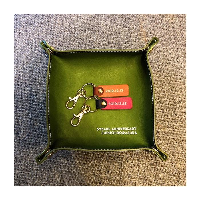 革婚式・レザートレー・革小物・プチギフト・名入れギフト・名前入りプレゼント・参考写真009