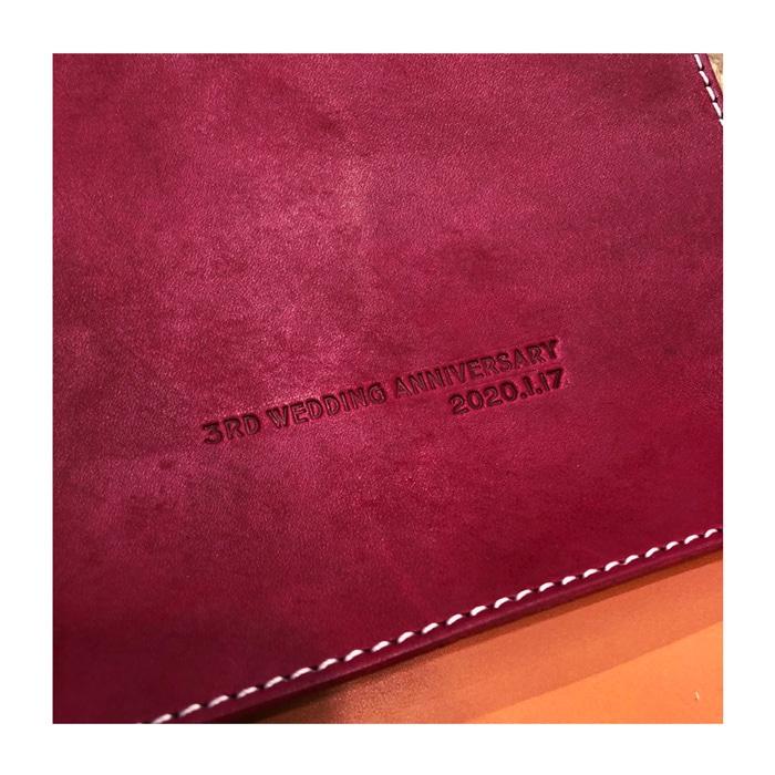 革婚式・レザートレー・革小物・プチギフト・名入れギフト・名前入りプレゼント・参考写真011