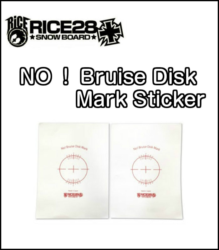 RICE28 eb's ライス NO!Bruise Disk Mark Sticker デッキ面保護シート スノーボード 正規品