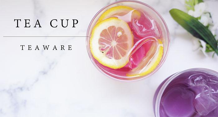 ハーブの美しい色を楽しむガラスティーカップ<