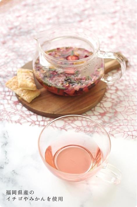 福岡県産のイチゴやみかんを使用