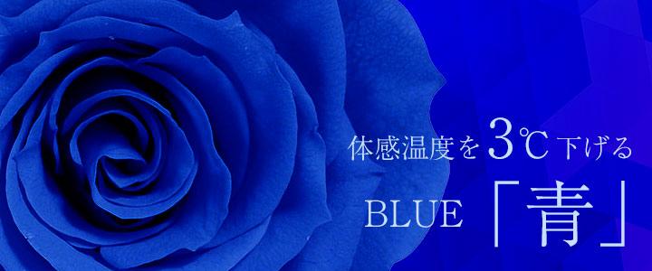 体感温度を3℃下げる「青」
