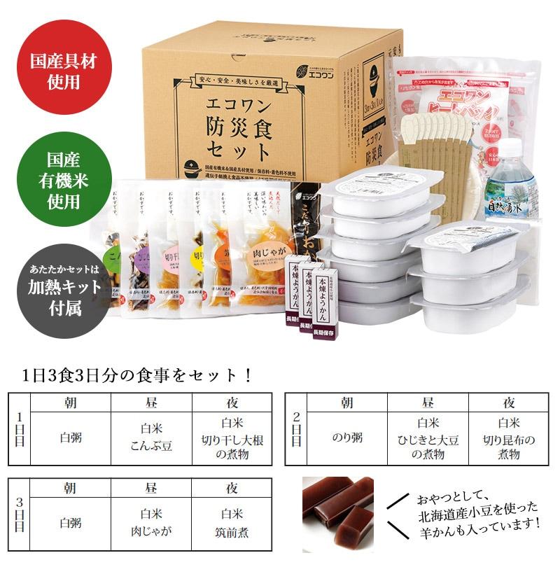 エコワン 防災食 セット内容紹介