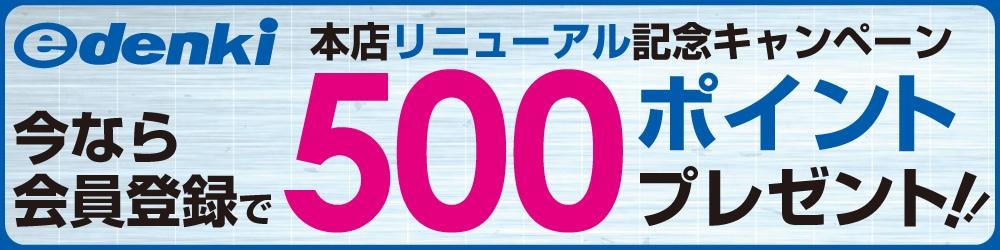 リニューアル記念会員登録で500ポイントプレゼント