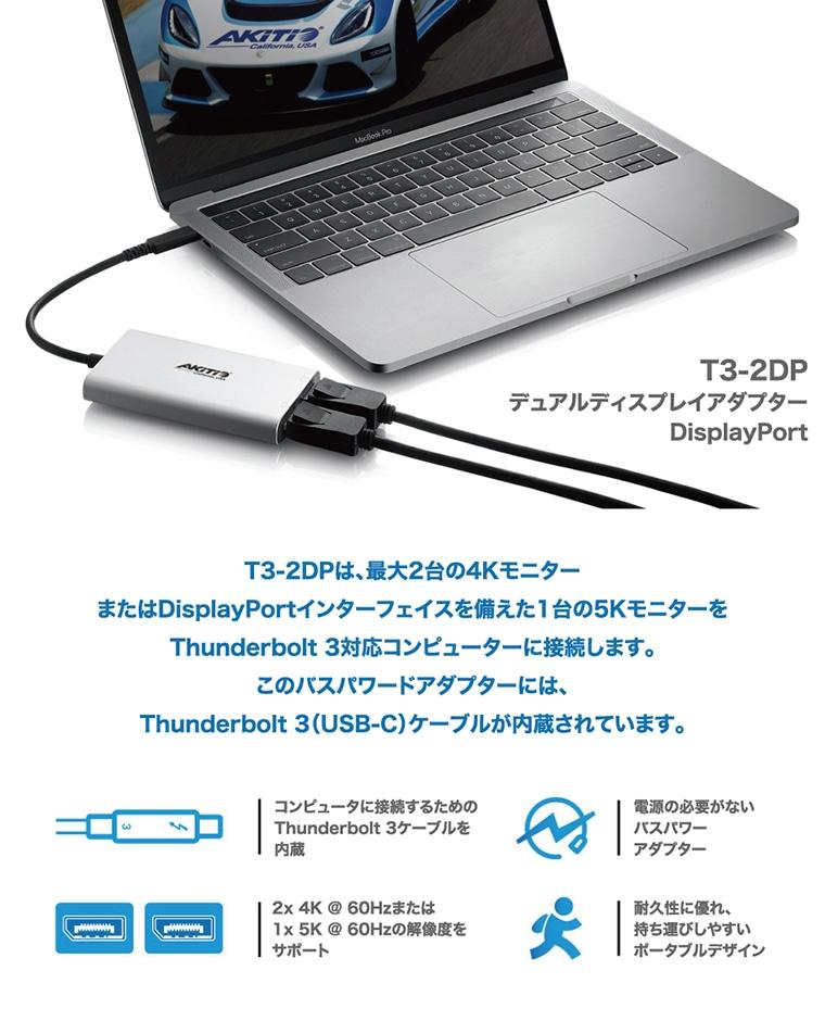 AKiTiO T3-2DP 説明1