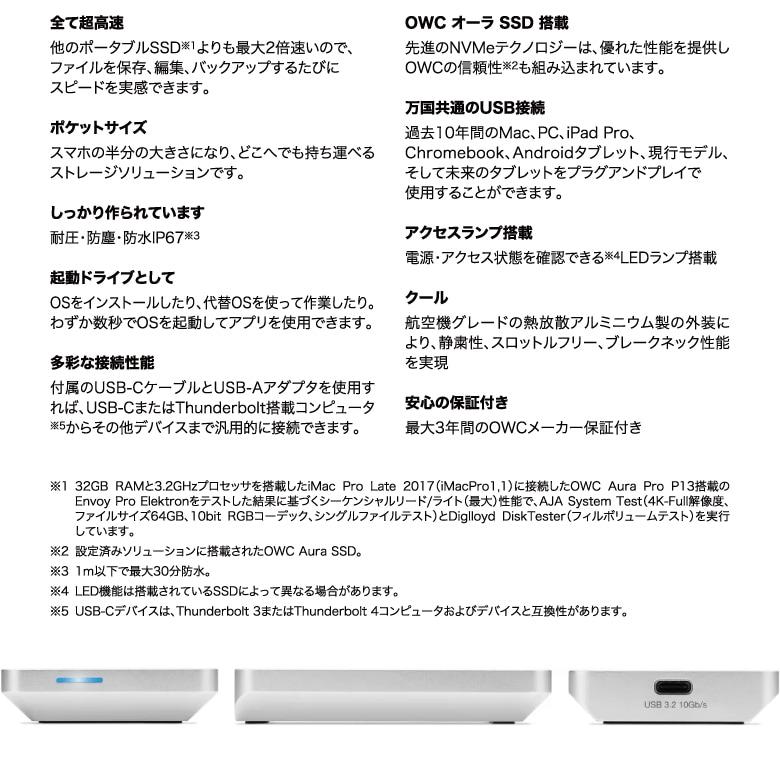 OWC Envoy Pro Elektron 説明4