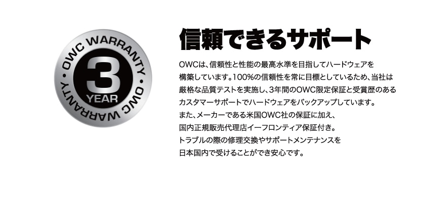 OWC Mercury Elite Pro Dual with 3-Port Hub 説明7