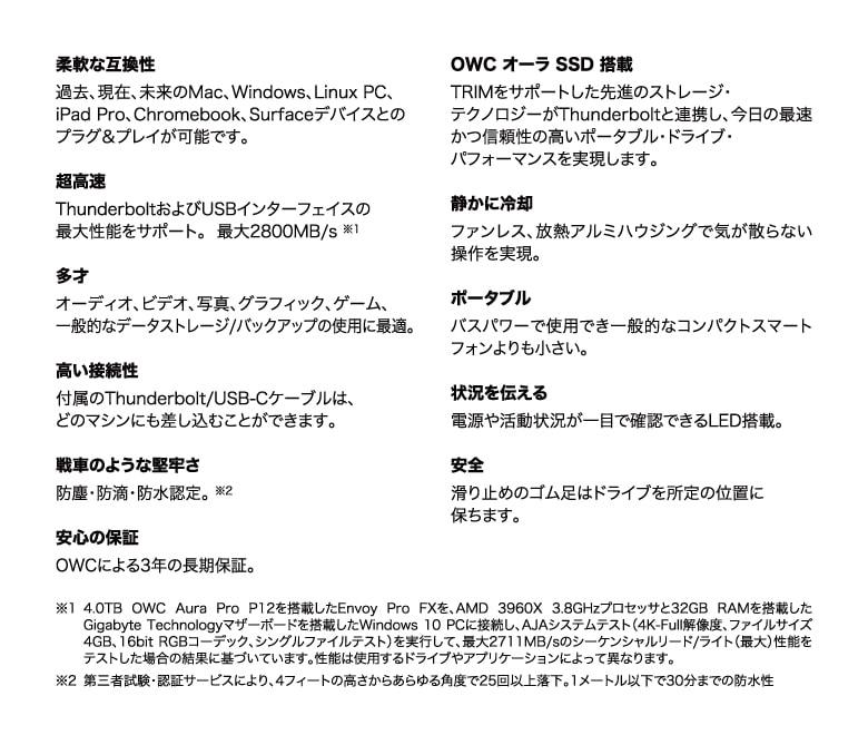 OWC Envoy Pro FX 説明4