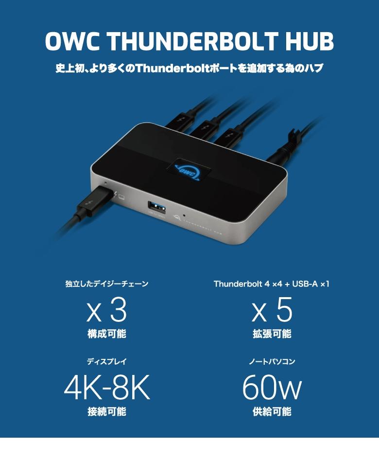 OWC Thunderbolt Hub 説明1