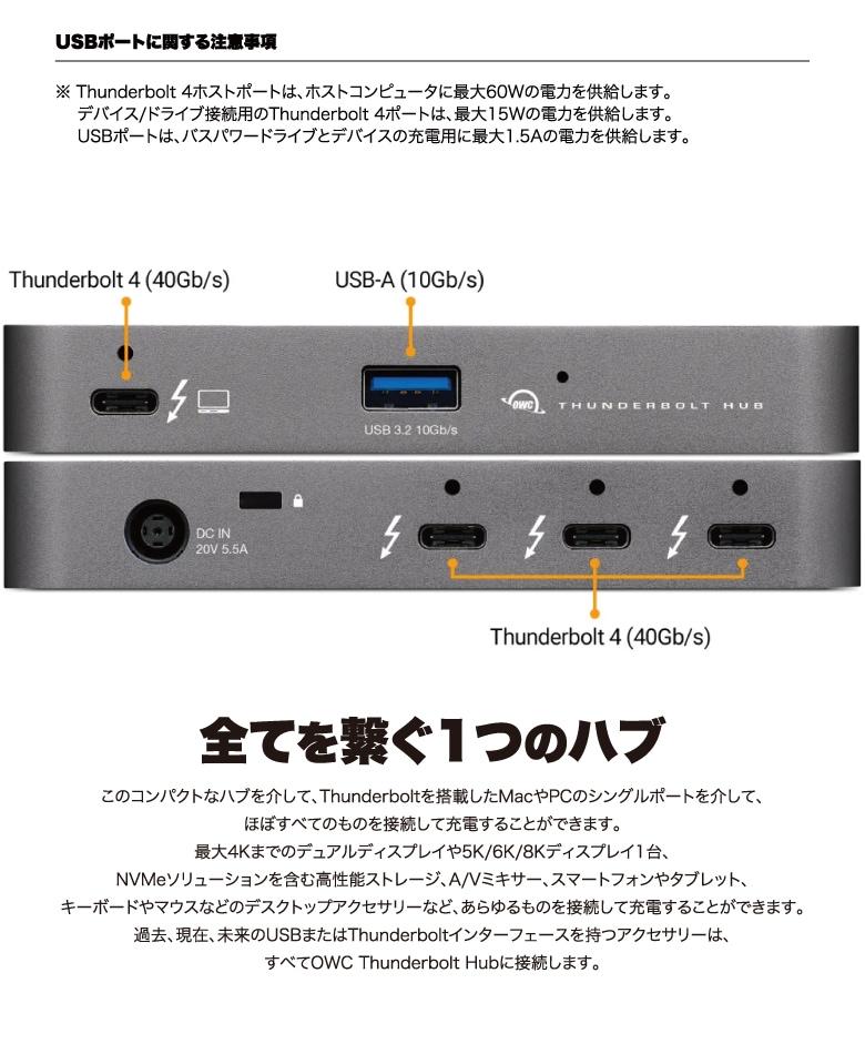 OWC Thunderbolt Hub 説明3