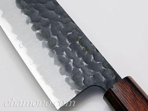 青紙スーパー割込 和牛刀210 黒鎚目〜Aogami super Gyuto210