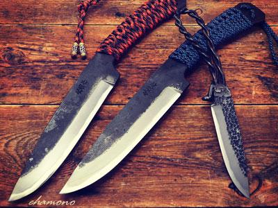 熊本鍛冶西田刃物工房【大祐作】黒打実用ナイフ