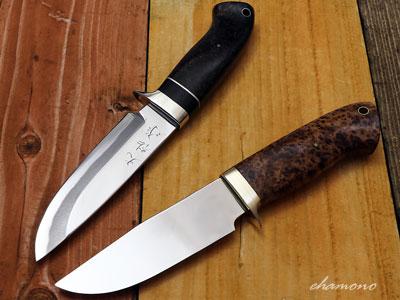 西田刃物工房 大祐作 白1鋼本鍛造片刃ナイフ