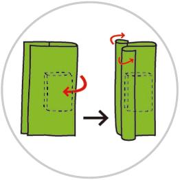 ブックカバーの包み方2
