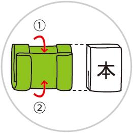 ブックカバーの包み方3