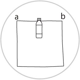 ペットボトルの包み方1