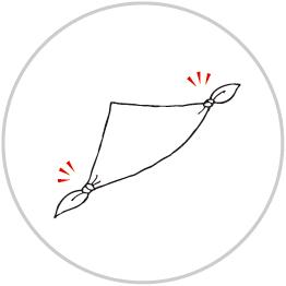 リングバックの包み方3
