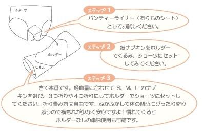 布ナプキンの使い方1