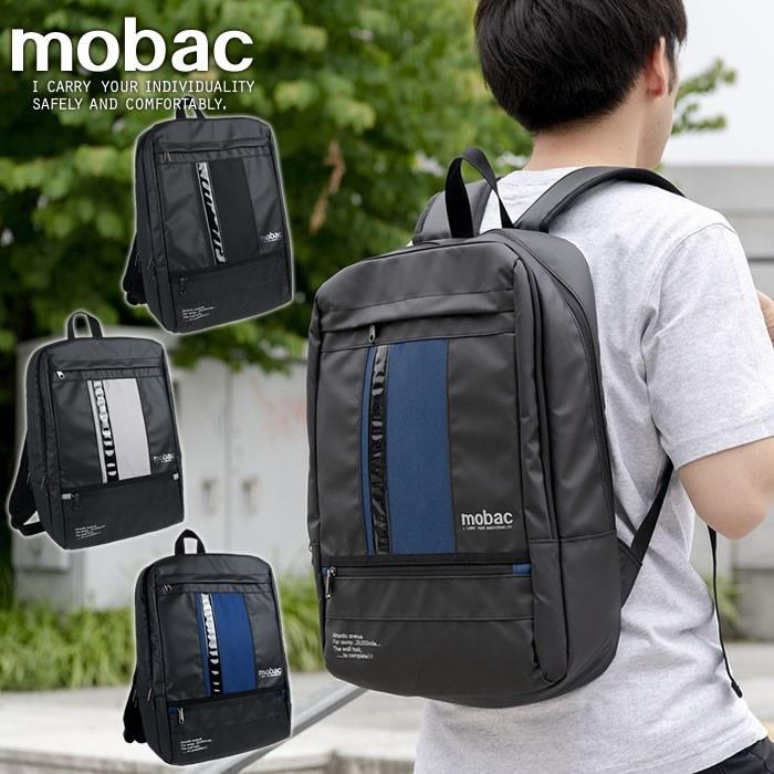 20cc52d26d3e リュックサック バックパック メンズ A4 大容量 軽量 スクエア スマート クッションポケット mobac ...
