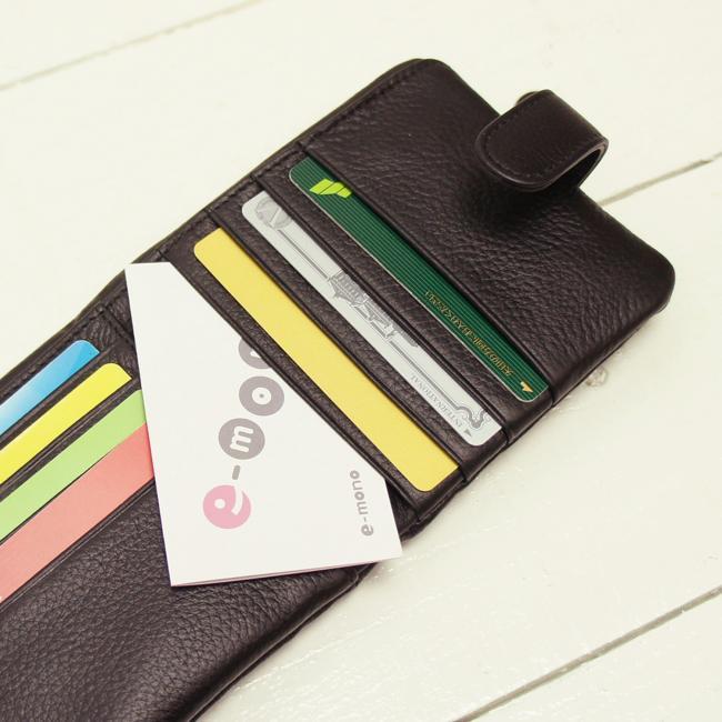 24ff31c09aa3 個性的なツートンカラーのやわらか牛革袋縫い二つ折り財布|e-mono ...