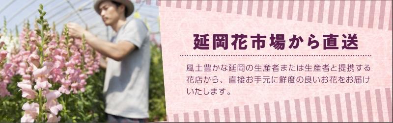 延岡花市場から直送