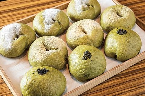 抹茶ベーグル(3種)