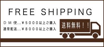 5000円以上ご購入でDM便送料無料8000円購入で通常配送無料
