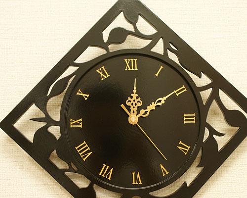 木製 壁掛け時計 モダン