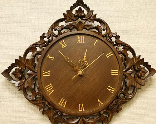 無垢 木製 壁掛け時計 おしゃれ