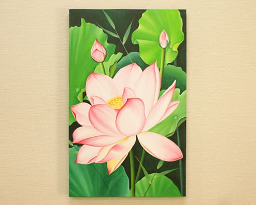 バリ絵画 花 フラワー