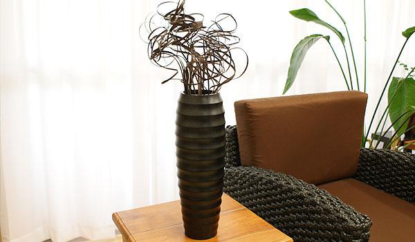 フラワーベース 木製 造花 大きい