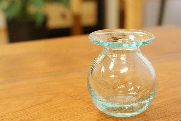 花瓶 ガラス フラワーベース 丸 小さい