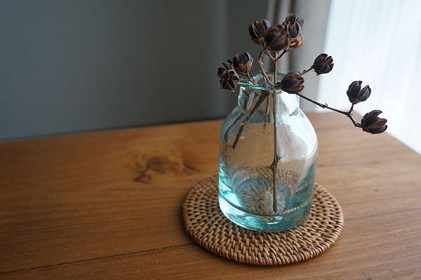 花瓶 ガラス フラワーベース 丸