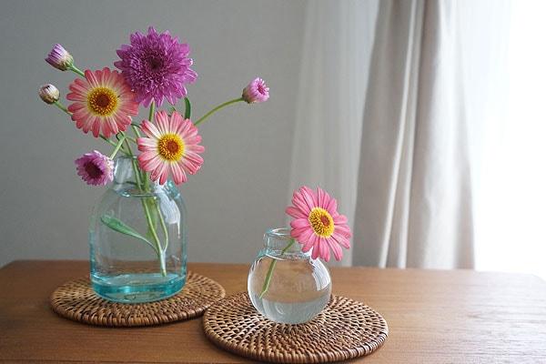 一輪挿し 花瓶 ガラス フラワーベース