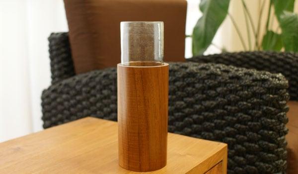 花瓶 フラワーベース ガラス アジアン雑貨