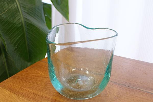 アジアン バリ ガラス 鉢