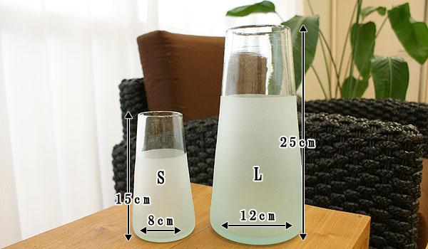 アジアン インテリア ガラス フラワーベース