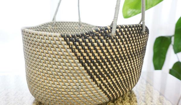 ラタン かご 収納 アジアン雑貨