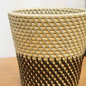 ラタン 鉢カバー アジアン雑貨