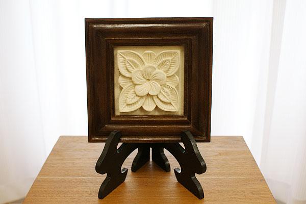 レリーフスタンド 木製 額立て アジアン