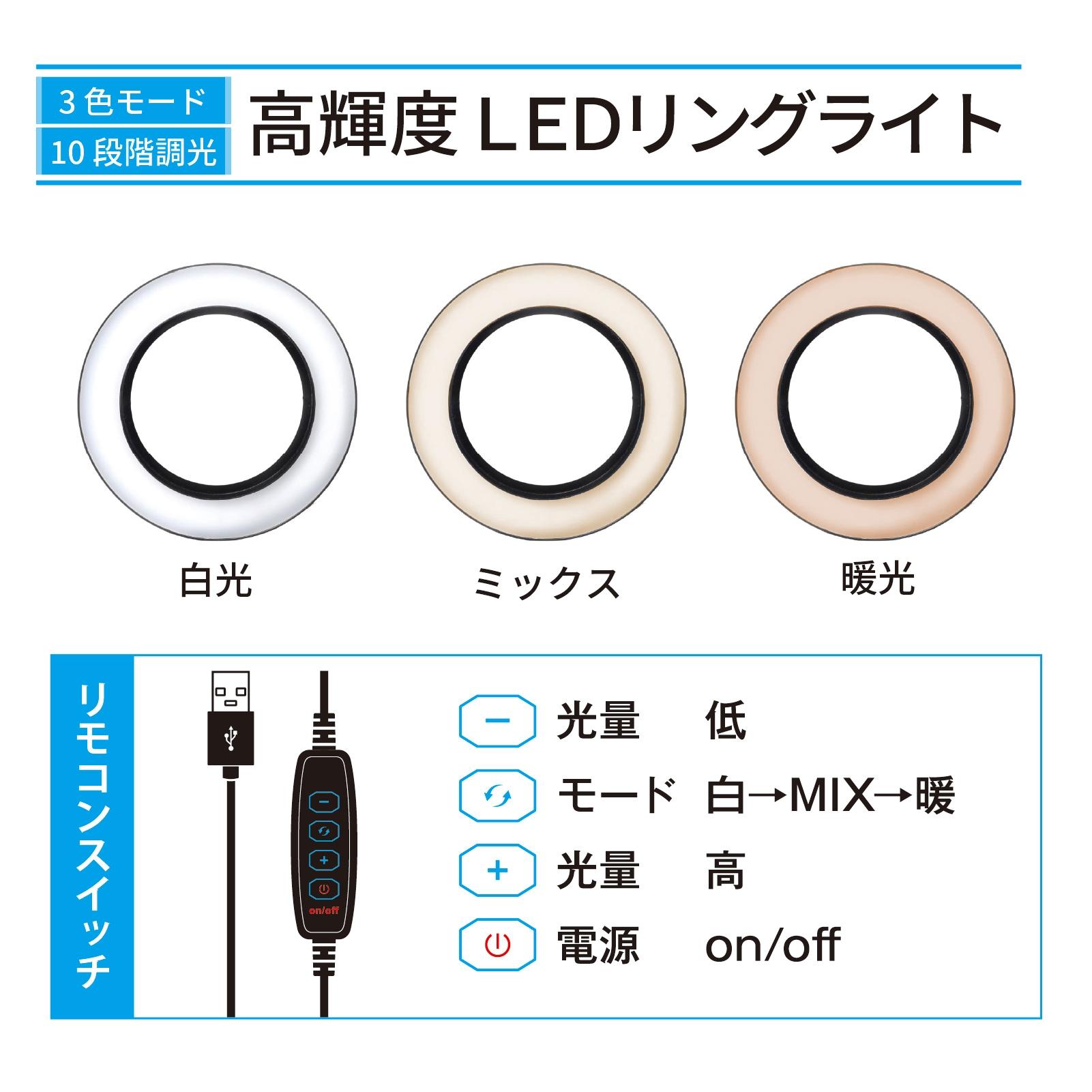 LEDリングライトリモコン