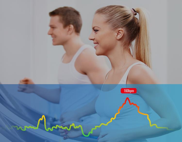 運動消費カロリーや歩数・心拍数などを自動記録