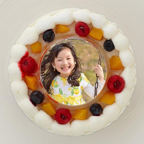 写真ケーキ 丸 5号 ホワイト